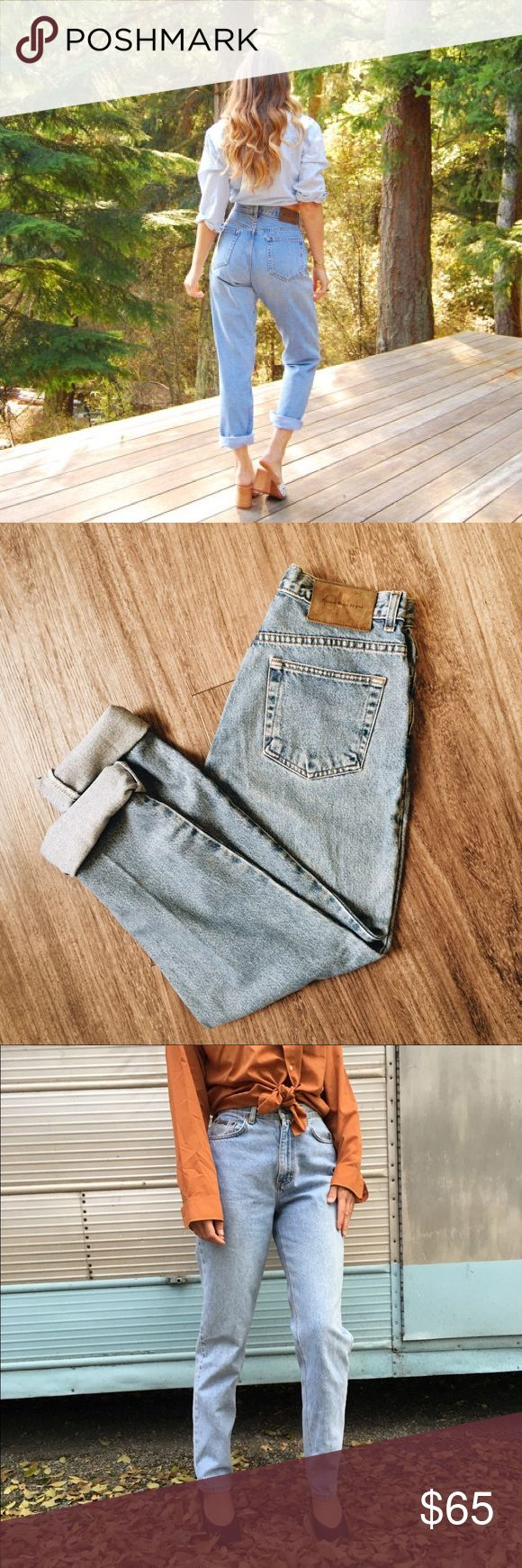 VINTAGE CALVIN KLEIN MOM JEANS W 10 Stone Wash Vintage Calvin Klein Jeans for the Mom Jean look 💙. Stone wash, size 10 inseam 30. Perfect condition with leather CK logo. Classic Fit Jean (color like photo of folded jeans) Calvin Klein Jeans Jeans