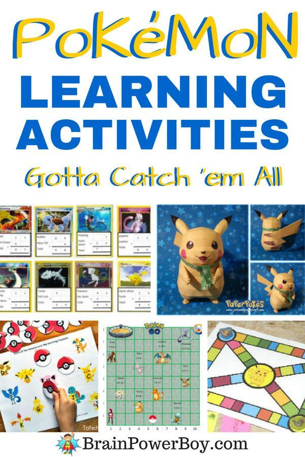 Pokemon Learning Activities your kids and students are sure to go for! Don't miss these. Great for teachers,  homeschoolers and afterschoolers.