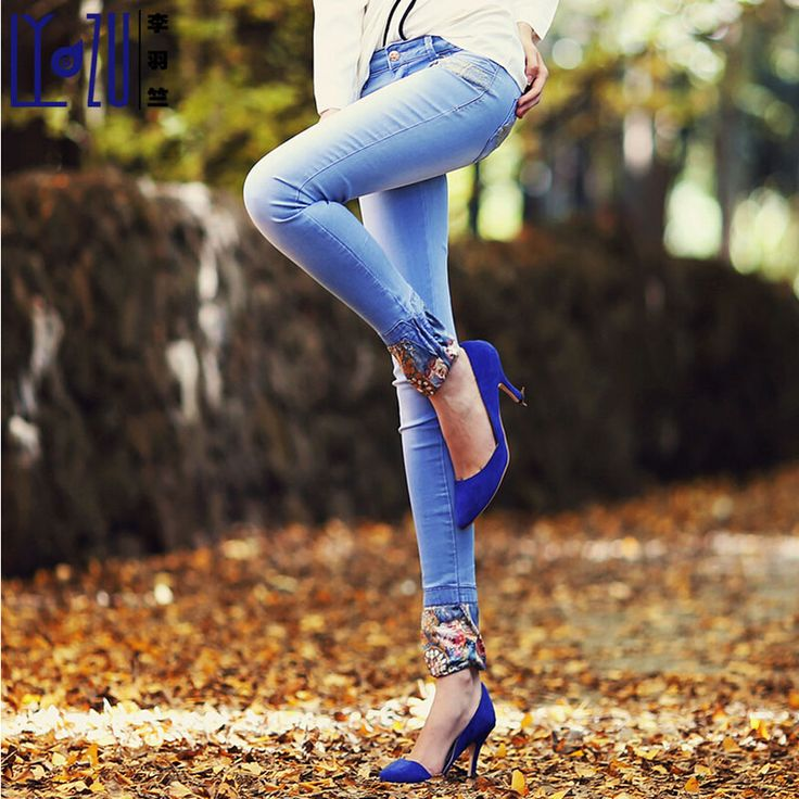 Light blue jeans, casual pants original design, handmade, find out more from DAMUXING on Aliexpress.com