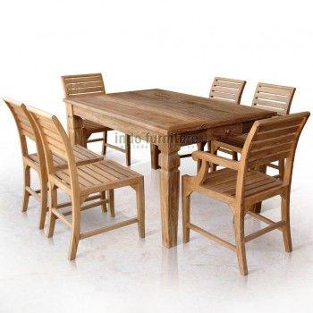 Set meja makan jati minimalis