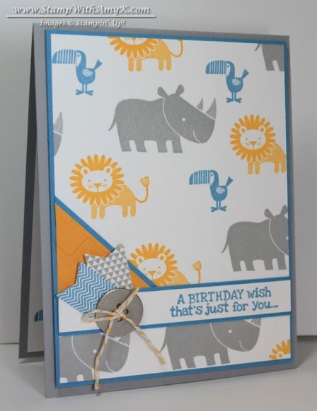 Zoo Babies Birthday Card  Stamp Night With Stampin' Up! - Stamp With Amy K  Stampin' Up!