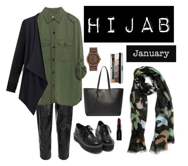 """Hijab"" by rabiasemx on Polyvore featuring MuuBaa, Valentino, Zara, Yves Saint Laurent, WeWood, Bobbi Brown Cosmetics, Smashbox, women's clothing, women and female"