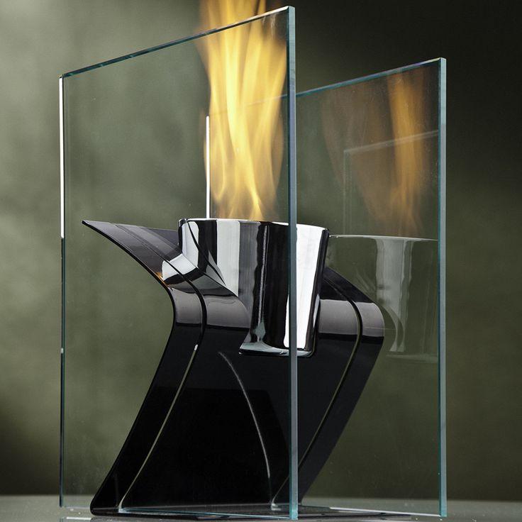 Zed Steel Bio Ethanol Tabletop Fireplace