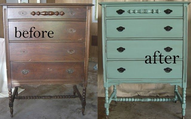 Furniture makeovers in TEAL
