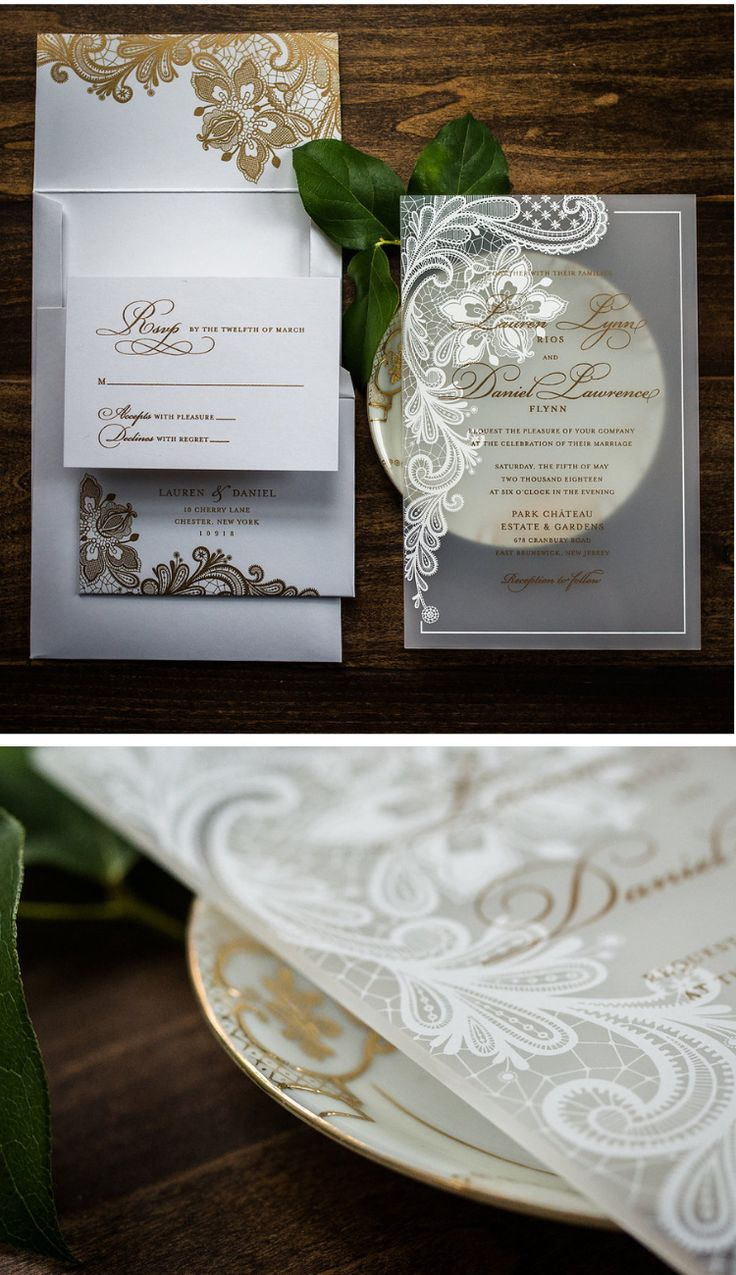 These Frosted Lace Acrylic Wedding Invitation Suites Are Simply Stunning Romanti Acrylic Wedding Invitations Wedding Invitations Unique Wedding Invitations