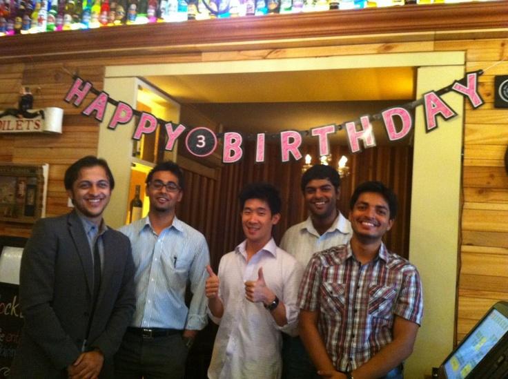 The Managing Partner's birthday celebration at WaBar. 2012