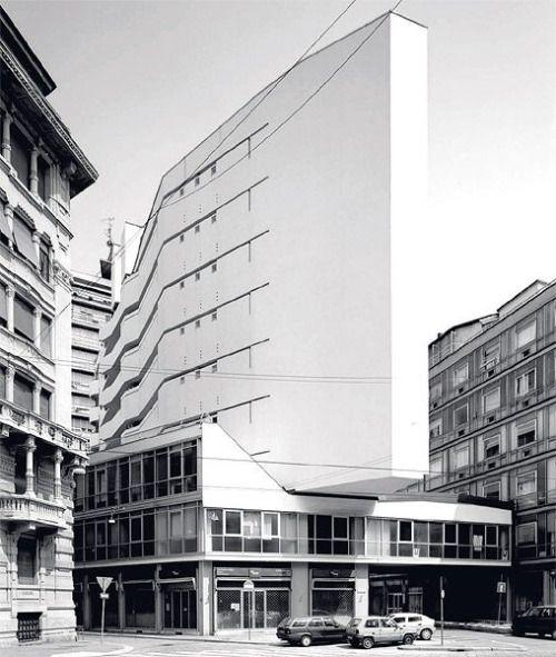 """subtilitas: """" Luigi Moretti - Corso Italia Complex, Milan 1956. Via. """""""