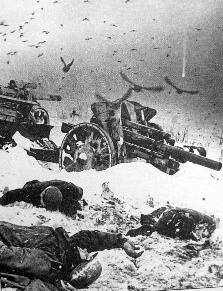 German soldiers killed in the Battle of Moscow.  December 1941.