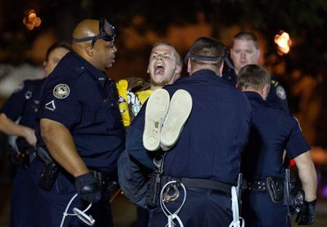 10/26/11-- Atlanta Police arrest around 50 anti- Wall Street Protesters.