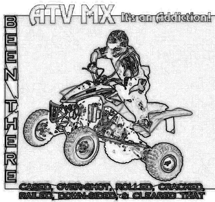 atv four wheeler coloring pages-#13
