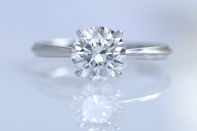 Erika Winters Bridal Jewelry Laurel Cathedral Solitaire Engagement Ring