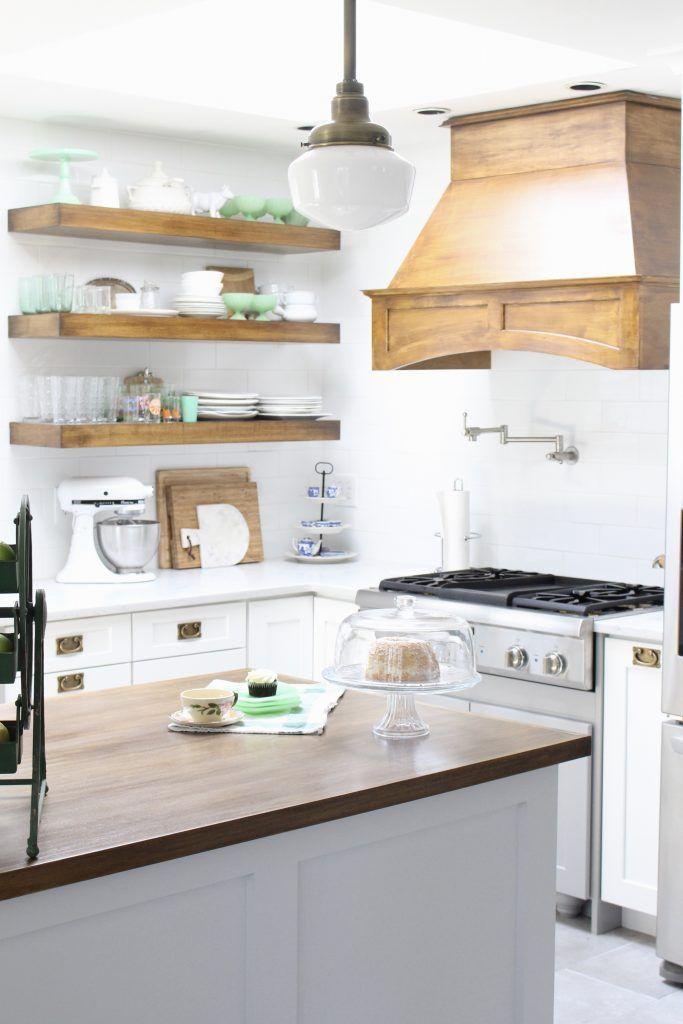 white cottage kitchen renovation reveal kitchen design kitchen rh pinterest com