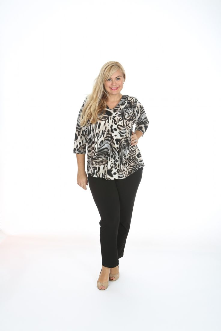 Printed v neck top in animal print: Comfortable easy, wash and wear top.  This animal printed poly spandex v-neck top. Great for those travel trips.  Fabric: Polyester Spandex Label: Lagos