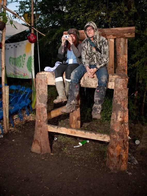 Glastonbury festival giant chair