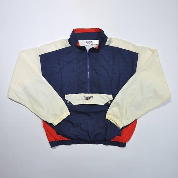 7b07f53950e38 Rare Vintage 90s REEBOK Windbreaker / REEBOK Shell Jacket / Retro ...
