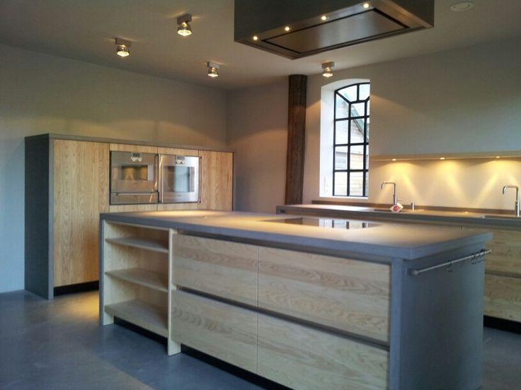 Keuken Design Boxtel : Beton met essen prachtige sobere keuken design