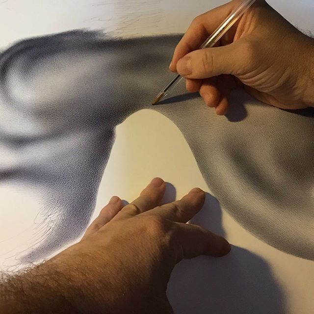 Working to 50 x 70 Biroscape. Talking hands. #biro #biroscape #studio #workingprocess #process #hands #instapic #instaink #artlife #pennabiro #drawings #drawing #2017 #summer #instapicture #pictureoftheday #blackandwhite #exhibition