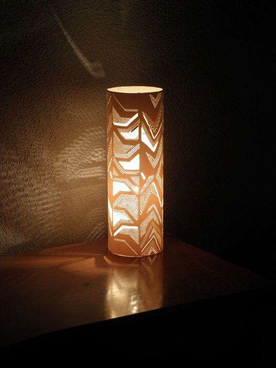 Modern table lamp cylindrical lamp abstract art housewares white lighting home decor night lamp - Desk lighting ideas ...