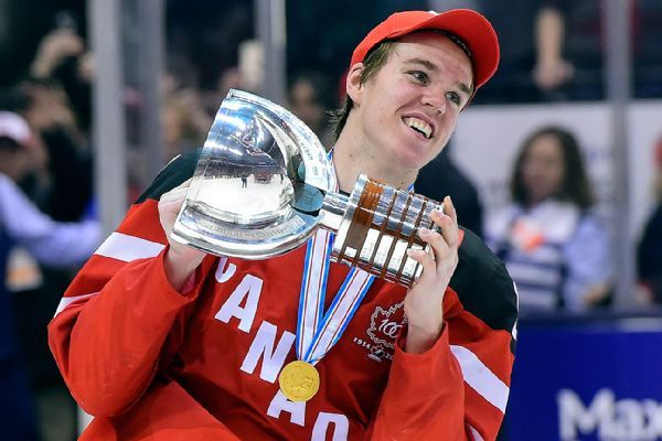 """Power Edge Pro – Connor McDavid's star continues rise """"Joe Quinn has trained McDavid since he was 9 years old and he grabbed his equipment, went to a Newmarket training rink and set up a training course specifically designed for McDavid to get his hands back.""""  #PEPHockeyTraining #CMCDavid97 #PEPHockey #JoeQuinn"""