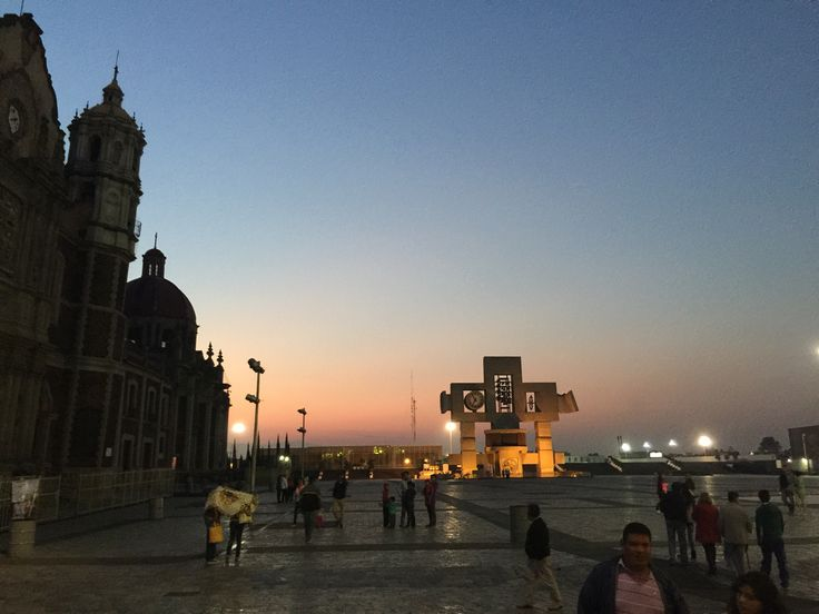 Basilica of Guadalupe. Mexico City. Mexico. Raising morning 6:00 am.