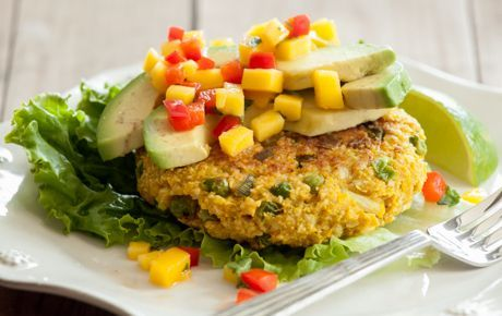 Serve these delicious curry-flavored burgers with cilantro, mango salsa or sliced avocado.