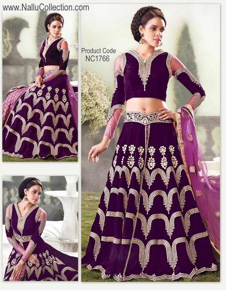 Purple Lehenga with Cream designs, Zoya Designer Lehenga Collection- Buy Online from Nallu Collection