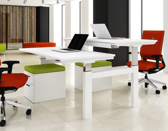 Sit Stand Workstations : Get Up. Stand Up. Your Key To A More Healthy.  Modern Office DeskDesk ...