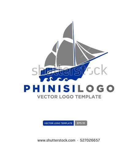 Phinisi logo Vector. Sailboat logo Template. Vector Illustration eps. 10