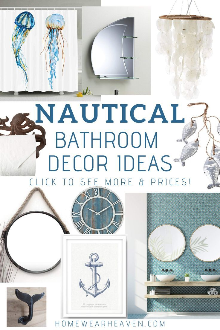 Are You Looking For Nautical Bathroom Decor Ideas These Decor Products Will Look Great In Your Bathr In 2020 Nautical Bathroom Decor Bathroom Decor Nautical Bathrooms