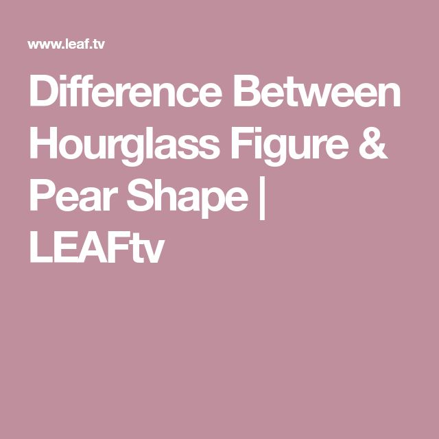 f31961b38e Discover ideas about Body Shapes. Difference Between Hourglass ...