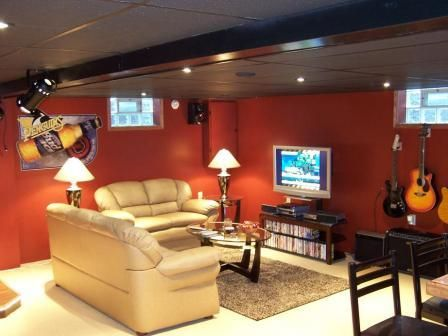 Nice Guitar Themed Basement Man Cave But Check Out The