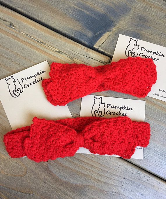 Newborn headband red baby headband red red headband crochet