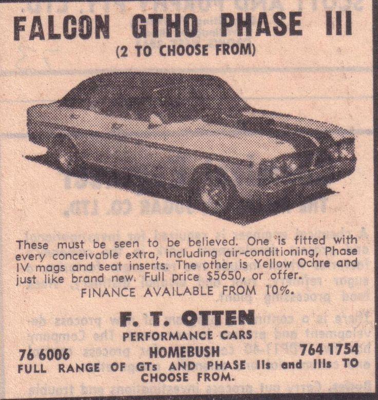1971 Ford XY Falcon GTHO Phase 3
