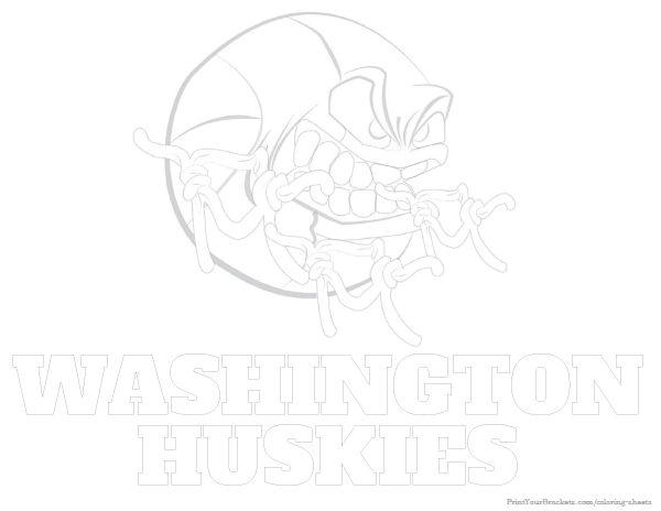 Washington Huskies Basketball Coloring Sheet - Printable