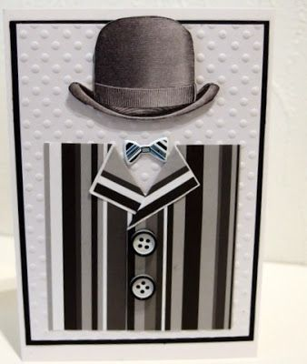 Masculine card in black and white - MoskiDesign