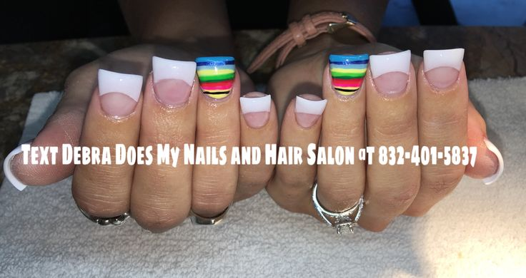 Serape Blanket Nail Design with Flared Tips trendy Nails