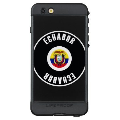 #simple - #Ecuador Flag Simple LifeProof® NÜÜD® iPhone 6s Plus Case