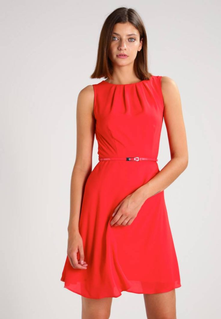 Dorothy Perkins. BILLIE BLOSSOM  - Summer dress - red         . Outer fabric material:100% polyester. Pattern:plain. Care instructions:machine wash at 40°C,do not tumble dry,Machine wash on gentle cycle. Neckline:round neck. Sleeve length:sleeveless. Back width...