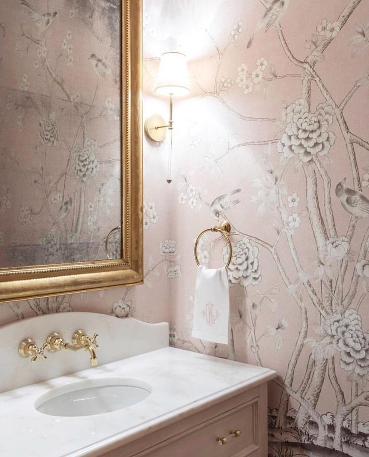 """23 Likes, 1 Comments - Amy Kummer (@gracedavisinteriors) on Instagram: """"This powder bath by @riversspencer is so beautiful I had to share. I've always been obsessed with…"""""""