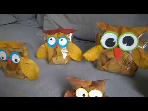 Leaf Owls crafts - YouTube
