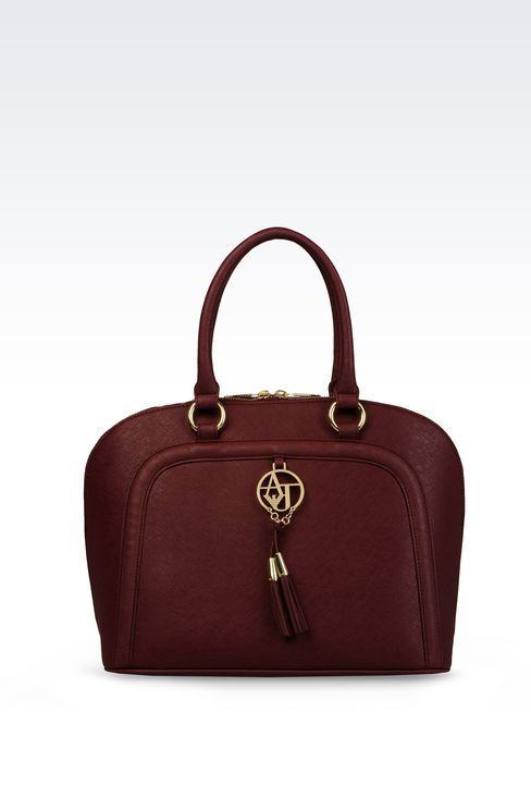 ARMANI JEANS|bags. Bugatti bag saffiano faux leather. Bordeaux.