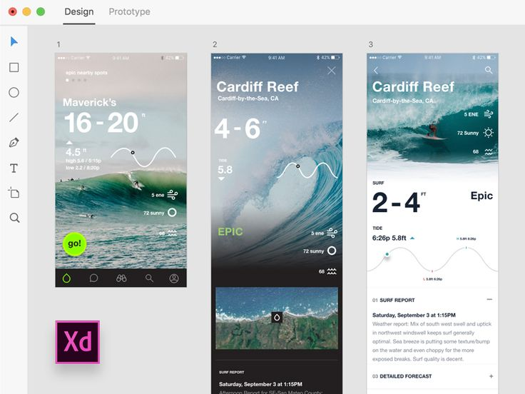 Here's a look at my concept flow when coming up with the surf stats screen on the Onshore App. In Adobe Xd, it's super easy to have multiple ideas side by side in one file and made for a great way ...