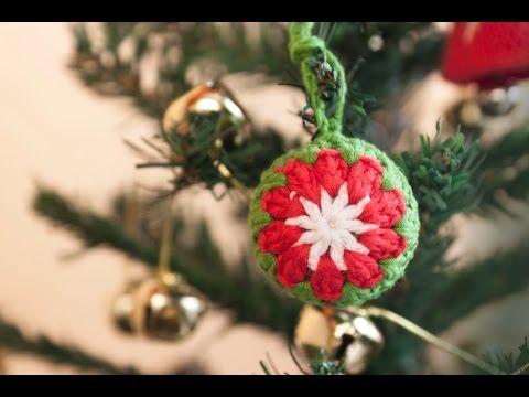 ▶ Cómo hacer una bola de ganchillo para el árbol de Navidad | Christmas tree crochet ball - YouTube