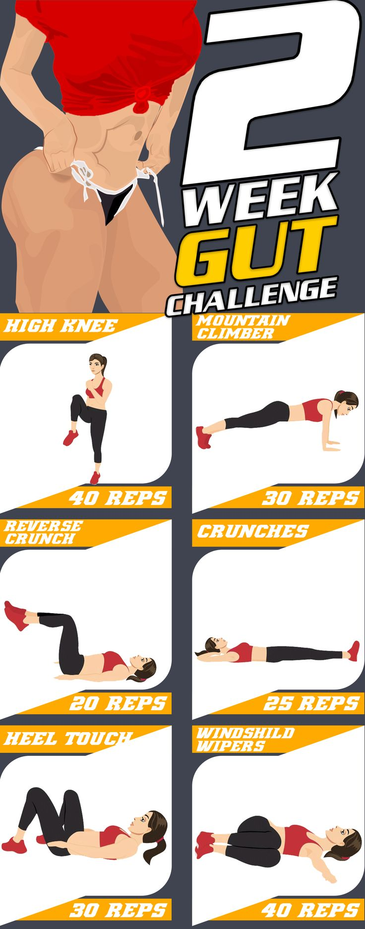 Ready for this 6 pack abs challenge that will slim and strengthen your abdominal…