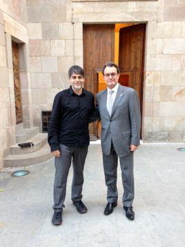 Amb el President Artur Mas al Palau de la Generalitat. #Generalitat #Catalunya