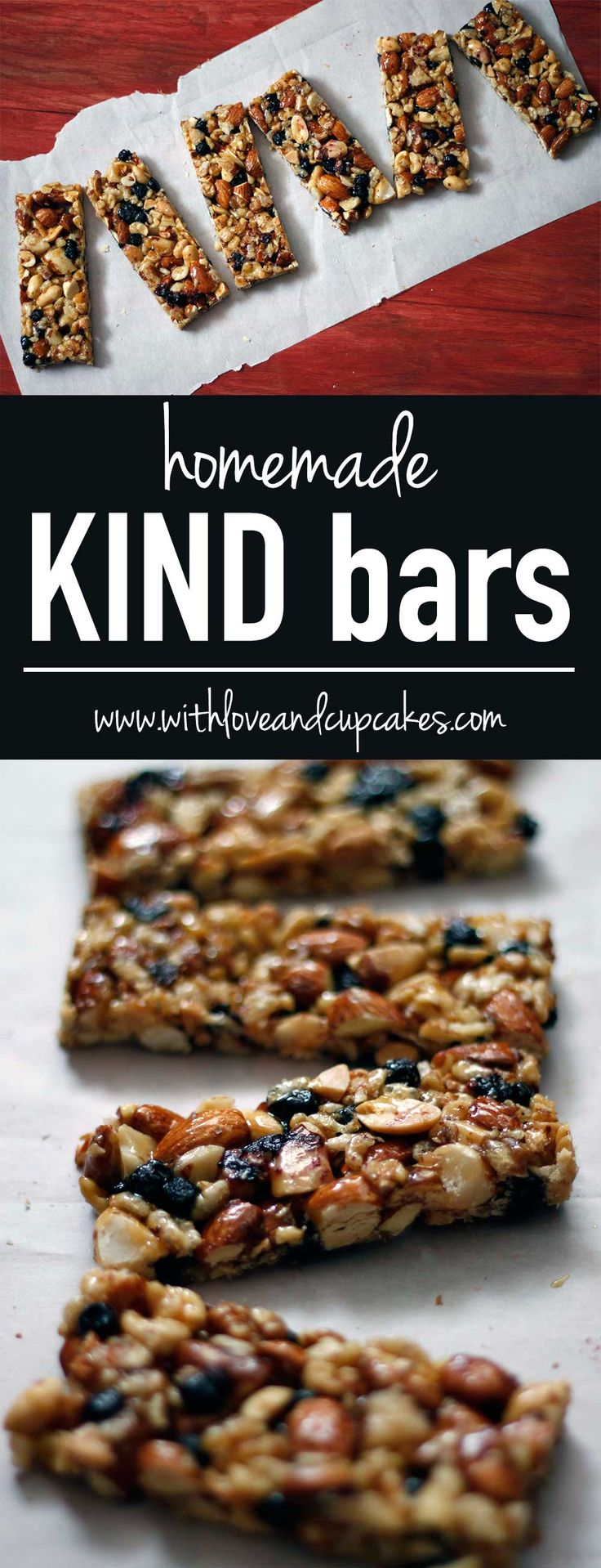 homemade KIND bars | withloveandcupcakes.com