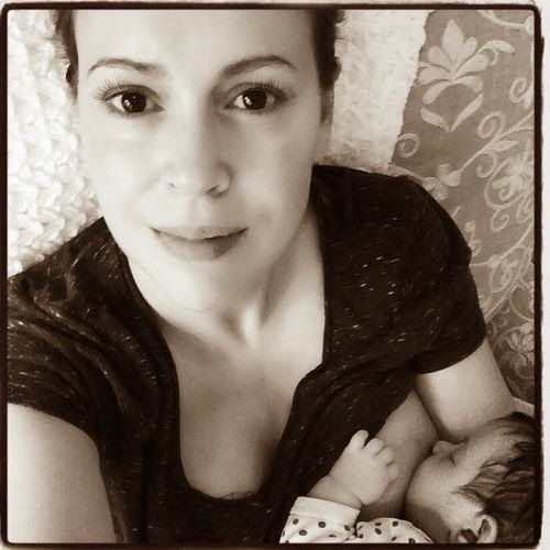 Bellyitch: Alyssa Milano questions breastfeeding v. nude Kim Kardashian cover double standard