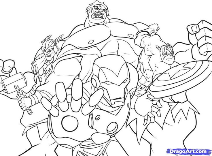 how to draw the avengers step 7