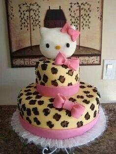 Leopard kitty cake. Love it