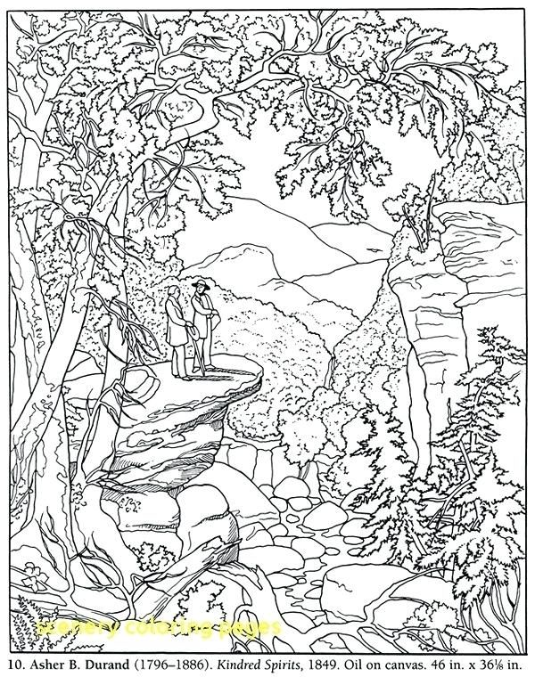 Inspirational Coloring Pages For Adults Landscape To Print